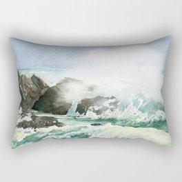 Splashing waves Rectangular Pillow