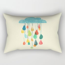 cloudy with a chance of rainbow Rectangular Pillow