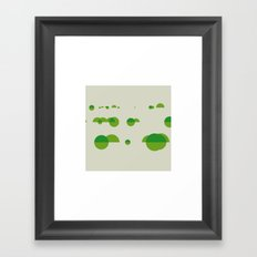 #242 River scenery – Geometry Daily Framed Art Print