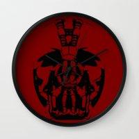 bane Wall Clocks featuring Bane by WaXaVeJu