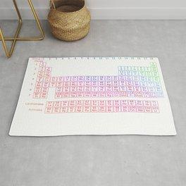 Rainbow Periodic Table Rug
