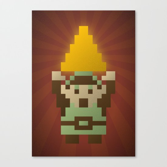 Zelda - Link Triforce Canvas Print