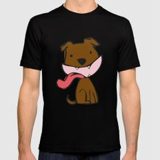 woof Black MEDIUM Mens Fitted Tee