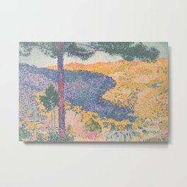 Valley with Fir (Shade on the Mountain) by Henri-Edmond Cross1909, French Metal Print