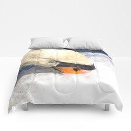 Swan Watercolour Art Comforters
