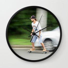 downhill skate Wall Clock