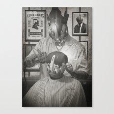 Cyber Barber Canvas Print