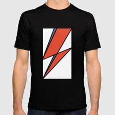 Bowie Tribute MEDIUM Mens Fitted Tee Black