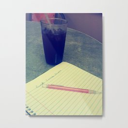 Coke and Poems- Colored Metal Print