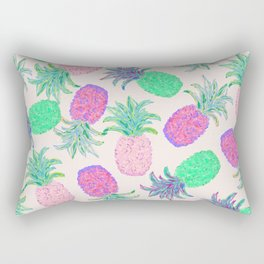 Pineapple Pandemonium Pink Punch Rectangular Pillow