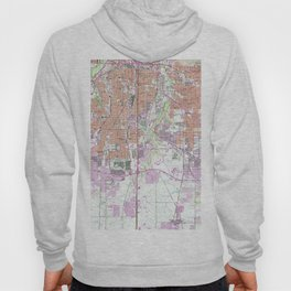 Vintage Map of Fort Worth Texas (1955) 2 Hoody