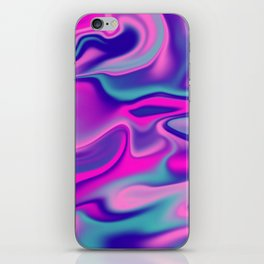 Liquid Bold Vibrant Colorful Abstract Paint in Blue, Pink and Purple iPhone Skin