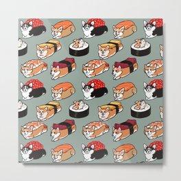 Sushi  Corgi Metal Print