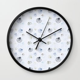 Shell Pattern Wall Clock