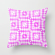 Pink And WHite abstract pattern Throw Pillow