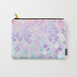 Mermaid Pastel Iridescent Carry-All Pouch