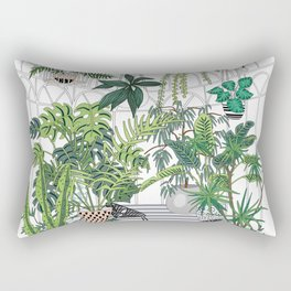 greenhouse illustration Rectangular Pillow