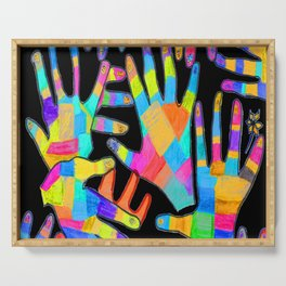 Hands of colors | Hands of light Serving Tray