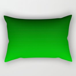 Black and Lime Gradient Rectangular Pillow