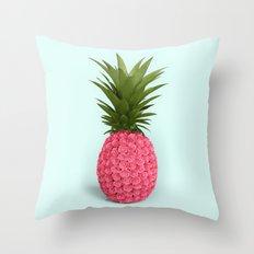 PINEAPPLE ROSES Throw Pillow