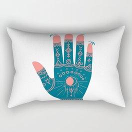 Henna Indian Yoga Buddhism Work Out Flame Rectangular Pillow