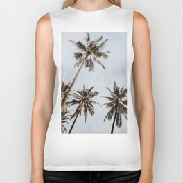 palm trees xiv / chiang mai, thailand Biker Tank