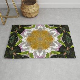 Camellia Flower Kaleidoscope  Rug