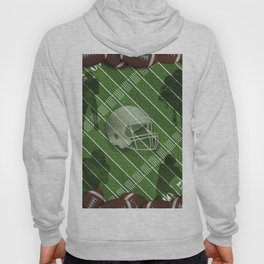 Football Helmet and Players over a Field Hoody