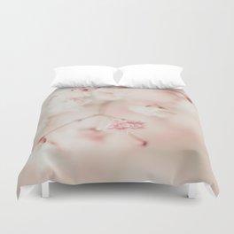 Pink Linen Gypsophila Duvet Cover