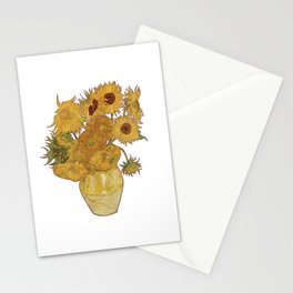 Sunflowers of Van Gogh Stationery Cards