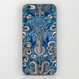The Kraken (Blue - No Text) iPhone Skin