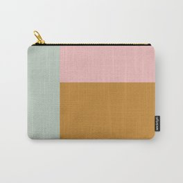 Abstract Geometric Color Block Design Carry-All Pouch