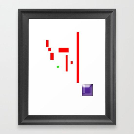 PONGed Framed Art Print