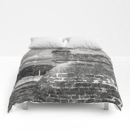 Castillo de San Marcos - black and white Comforters