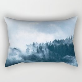 The Fog In The Trees Rectangular Pillow