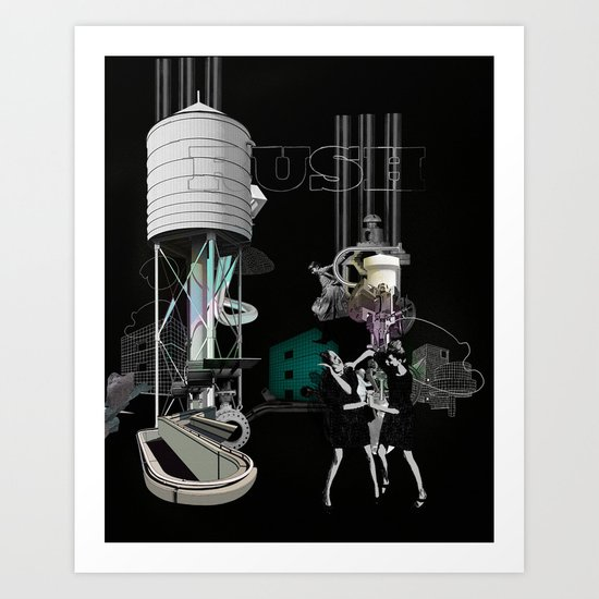 'RUSH'ONE Art Print