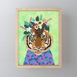 Neon Tiger Framed Mini Art Print