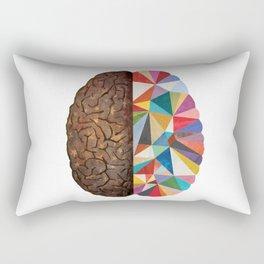 Geometric Brain Rectangular Pillow