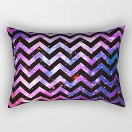 Girly Chevron Pattern Cute Pink Teal Nebula Galaxy Rectangular Pillow