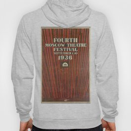 4th Moscow Theatre Festival - Vintage Poster Hoody