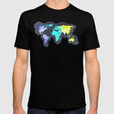 The World Belongs to you Mens Fitted Tee MEDIUM Black
