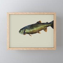 Trout on Beige Framed Mini Art Print