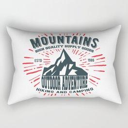 Mountains stamp print design Rectangular Pillow