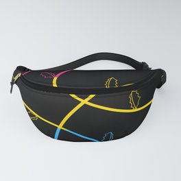 Jagged leaves, pansexual pride flag Fanny Pack