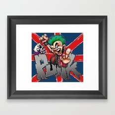 punk rocker Framed Art Print