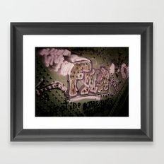 Staining The Path Framed Art Print