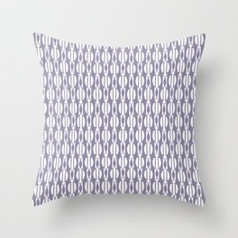 NIGH mauve and white weave a smock pattern Throw Pillow