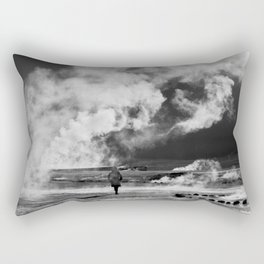 Walking into Fire Rectangular Pillow