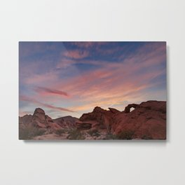Arch Rock Sunset, Valley of Fire - I Metal Print
