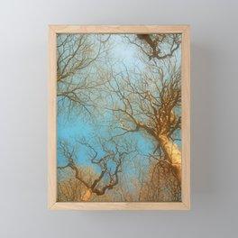 High up in the early  fresh Spring Air Framed Mini Art Print